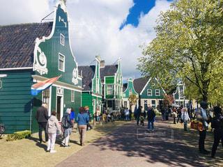 オランダの村の写真・画像素材[2367833]