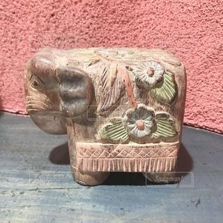 象のオブジェの写真・画像素材[2486696]
