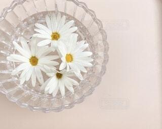 テーブルの上に花の花瓶の写真・画像素材[4212630]