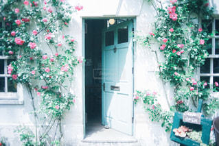 cafeの入り口の写真・画像素材[2375987]