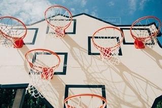 勝者はいないバスケットゴールの写真・画像素材[2786362]