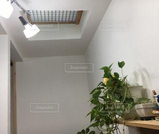 テーブルの上に家具と花瓶で満たされた部屋の写真・画像素材[2376654]