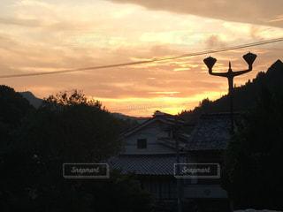 夕焼け空の写真・画像素材[2378845]