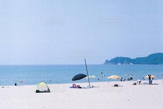 憩いのビーチの写真・画像素材[2377992]