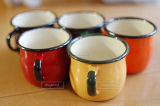5つのコーヒーカップの写真・画像素材[2951433]