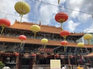 香港のお寺文武廟の写真・画像素材[2378637]