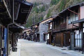 奈良井宿の街並みの写真・画像素材[2438918]
