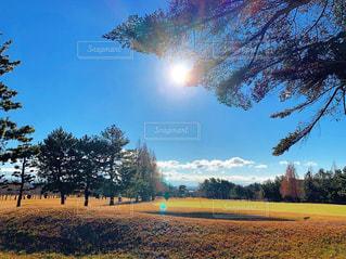 ゴルフ場にての写真・画像素材[2387671]