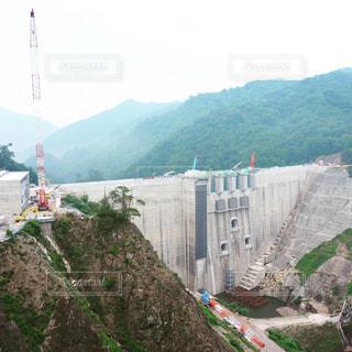 ダム建設中の写真・画像素材[2386580]