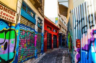 アテネの街並みの写真・画像素材[2391651]