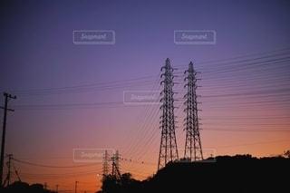 沈む夕日の写真・画像素材[2837766]
