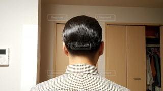 ガッチガチに固めたヘアスタイル。の写真・画像素材[3606436]