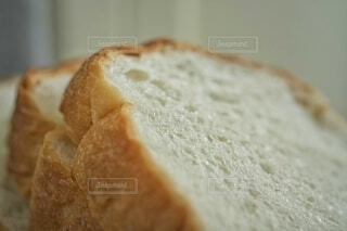 食パンのクローズアップ。の写真・画像素材[3732157]