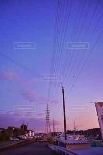 早朝の漁港。の写真・画像素材[3876143]