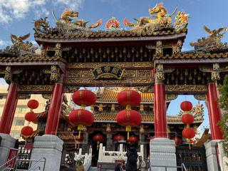 中華街のお寺の写真・画像素材[2818426]
