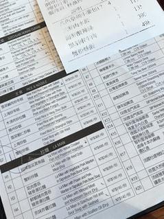 中華料理レストランの注文票とレシートの写真・画像素材[2430628]