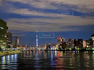 スカイツリーと隅田川の写真・画像素材[2835548]