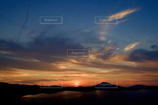 糸島の夕焼けの写真・画像素材[2392145]