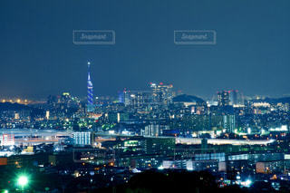 福岡市の夜景の写真・画像素材[3072428]