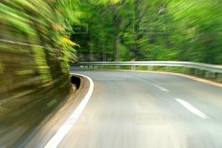 山道のカーブの写真・画像素材[2637465]