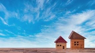 家と青空の写真・画像素材[3435843]