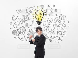 ビジネスマン アイデアのイメージの写真・画像素材[2995660]