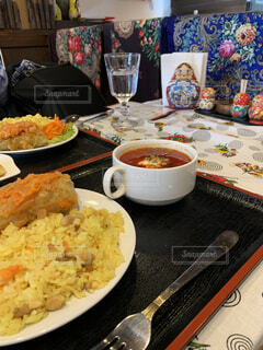 ロシアレストランでランチ。ボルシチ温まります。の写真・画像素材[3971446]