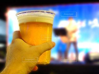 野外フェスで飲むビールの写真・画像素材[2497110]