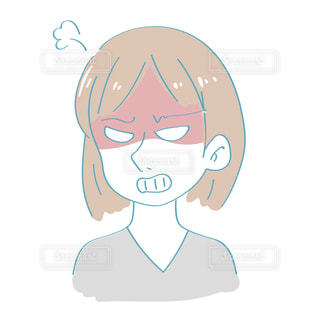怒る女性の写真・画像素材[2417377]