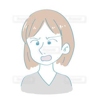 怒る女性の写真・画像素材[2417379]