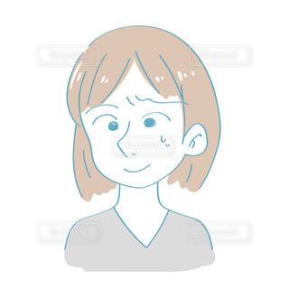 困った顔の女性の写真・画像素材[2417378]