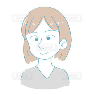 普通の表情の女性の写真・画像素材[2417382]