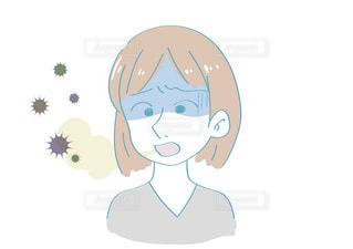 口臭を気にする女性の写真・画像素材[2428569]