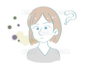 口臭に気がつかない女性の写真・画像素材[2428582]