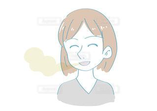 口臭に気がつかない女性の写真・画像素材[2436482]