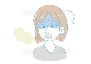 口臭に悩む女性の写真・画像素材[2436479]