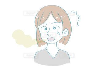 口臭に驚く女性の写真・画像素材[2436481]