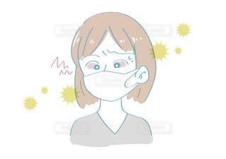 花粉症で目がかゆい女性の写真・画像素材[2436541]