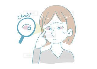 目が充血した女性の写真・画像素材[2445802]