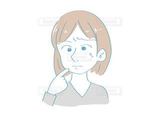 ニキビに悩む女性(日常)の写真・画像素材[2452581]