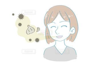 口臭に気がつかない女性の写真・画像素材[2496453]