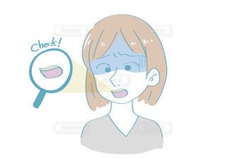 歯の着色に悩む女の写真・画像素材[2496461]