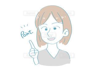 ポイントを説明する女性の写真・画像素材[2507281]