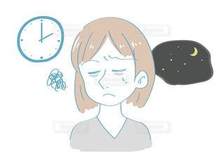 不眠不休の女性イメージの写真・画像素材[2509676]