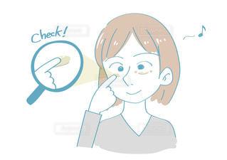 目元のケアをする女性の写真・画像素材[2510218]