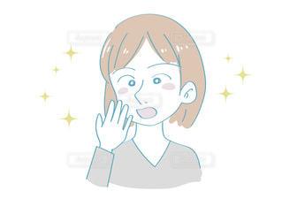 予想外で驚く女性(嬉しい表情)の写真・画像素材[2637938]