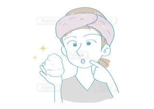 洗顔前の準備の写真・画像素材[2637994]