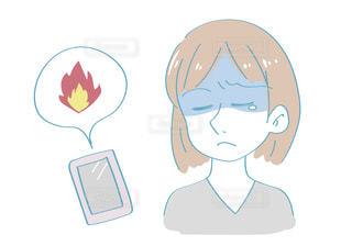 ネット、SNSで炎上するイメージの写真・画像素材[2756584]