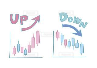 投資のチャートの写真・画像素材[2759507]