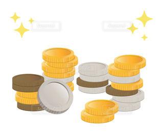 コイン、小銭、外貨投資イメージの写真・画像素材[3314710]